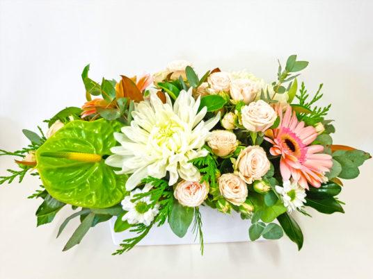 Low Ceramic Pastel Floral Hedge