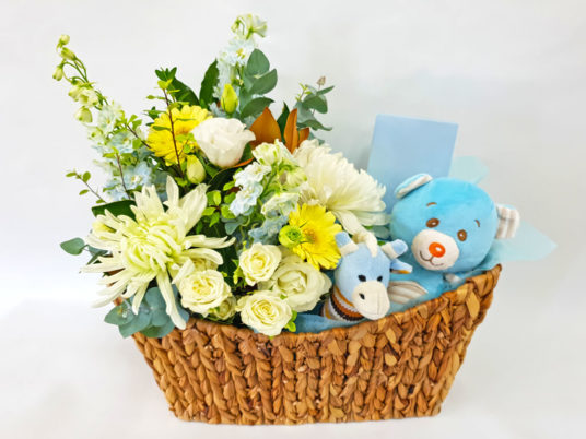 Market Flower Basket for Him